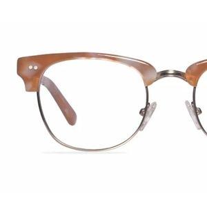 Browline Light Brown and SilverEyeglasses